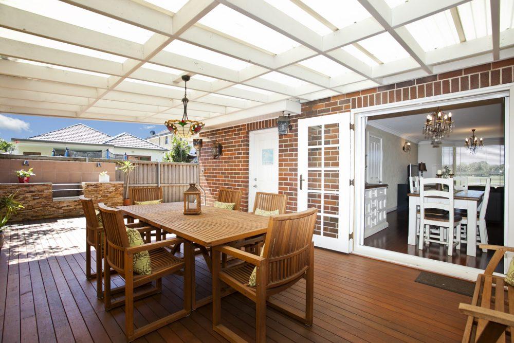 modern decking and garden