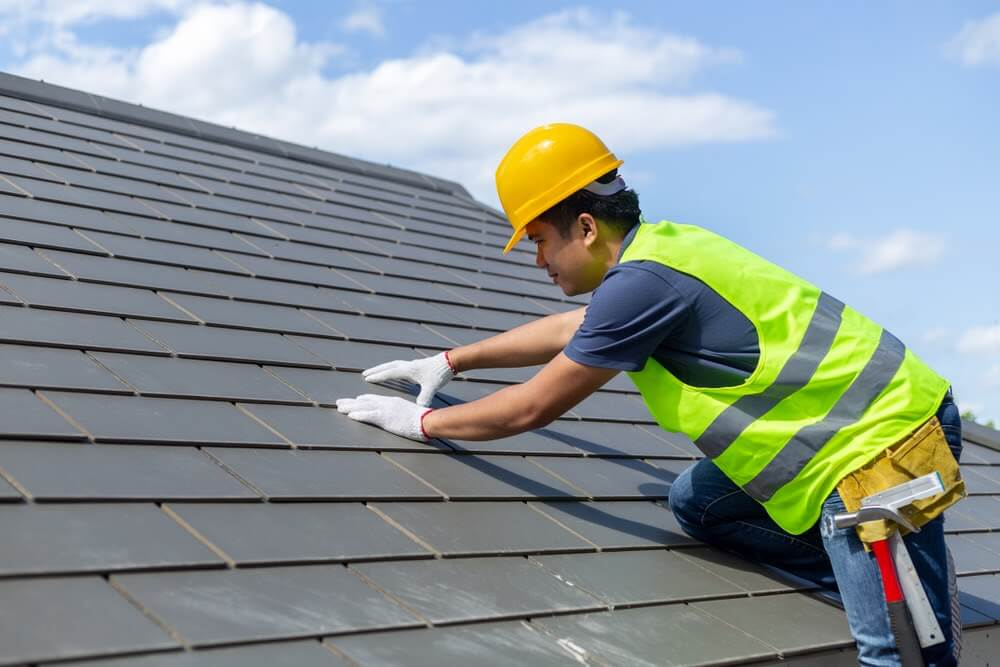 Slate roof and roofer