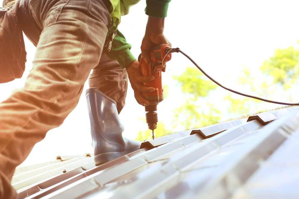 install a metal roof